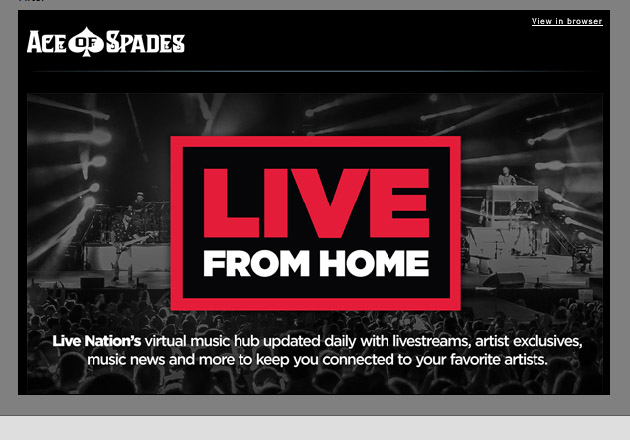 LIVE FROM HOME live-stream music etc. from around the globe