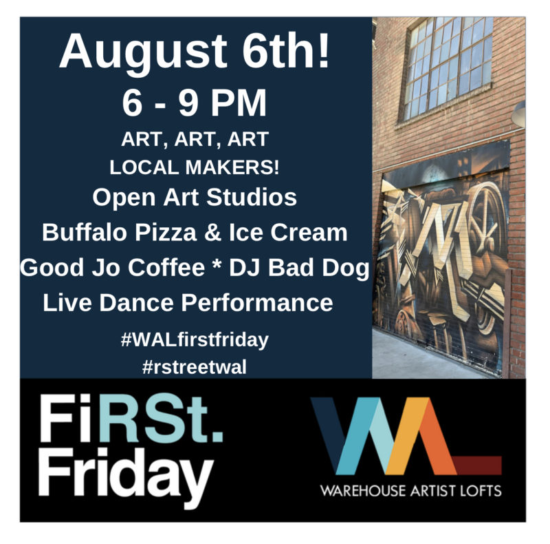 August 2021 First Friday Open Studios at WAL