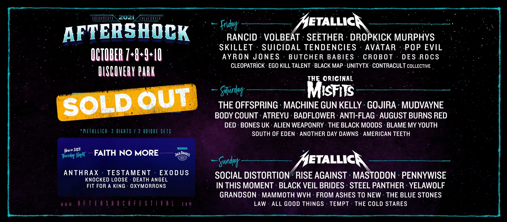 The 2021 Aftershock Festival LIVE @ Discovery Park (SOLD OUT)